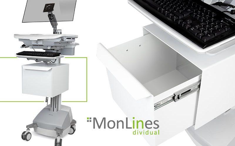 MonLines Sonderanfertigung: Schublade für Ergotron Medizinwagen