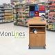 Mobiler Arbeitsplatz / Scanwagen mit Monitorhalter