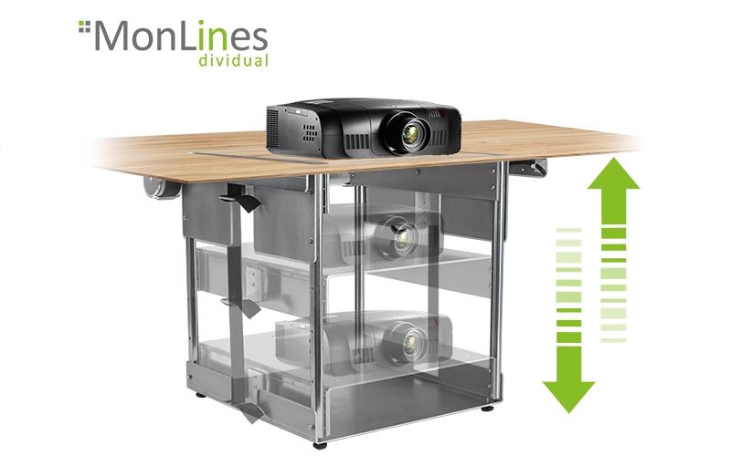 Kompakter Beamer Tischlift nach Maß