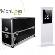 MonLines Display Stele Transportcase Monitorstele