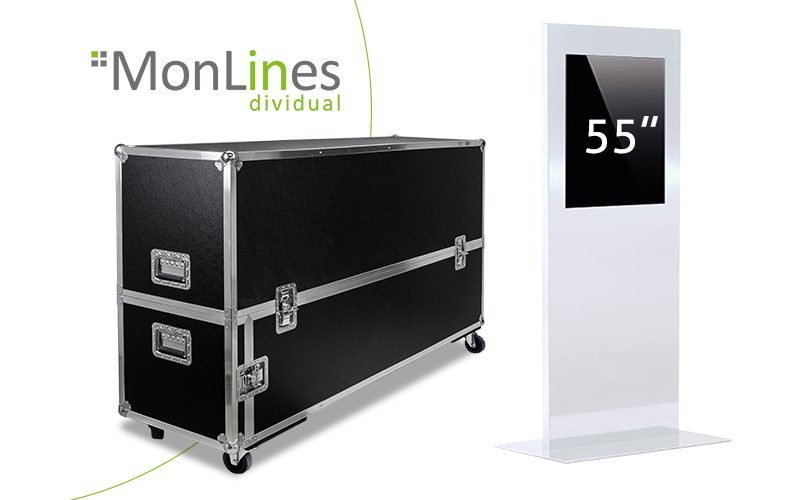 MonLines Display Stele Transportcase Monitorstele