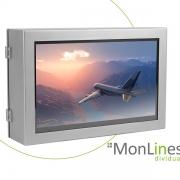 MonLines Edelstahl Schutzgehäuse für 21,5 Zoll Bildschirm