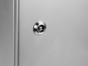 MonLines Edelstahl Schutzgehäuse für 21,5 Zoll Bildschirm abschließbar