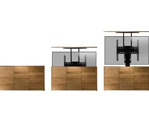 MonLines MLS005B / MLS006B myTVLift Einbau TV Lift elektrisch