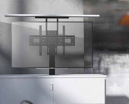 MonLines MLS005B / MLS006B myTVLift Einbau TV Lift elektrisch Einsatz
