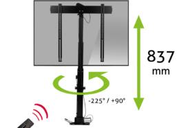 MonLines MLS007B myTVLift Einbau TV Lift 37-65 Zoll, 837 mm Hub, schwarz
