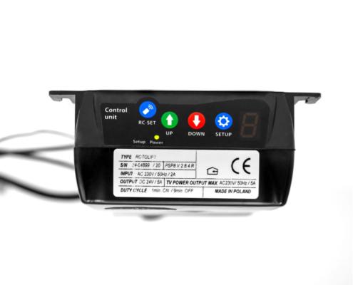 MonLines MLS007B myTVLift Einbau TV Lift 37-65 Zoll, 837 mm Hub, schwarz, Controller