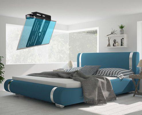 MonLines elektrischer Deckenlift, mMotion Flip Schwarz Anwendungsbeispiel: Schlafzimmer