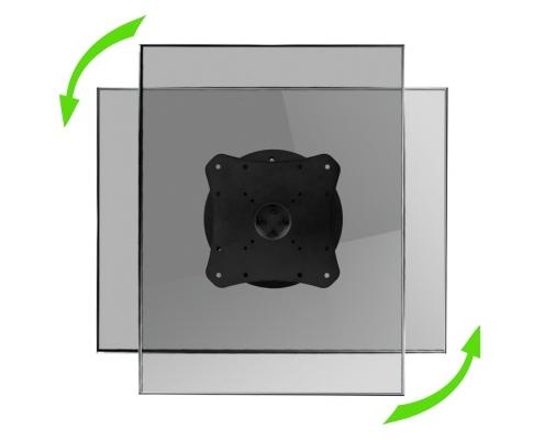 MonLines MWH007B Monitor Wandhalterung mit Pivot-Funktion