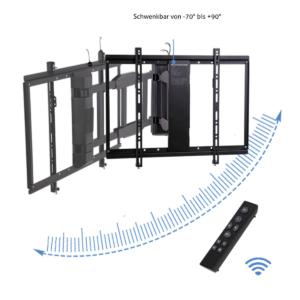 MonLines mySwing elektrische TV Wandhalterung, 50-70 Zoll, Fernbedienung