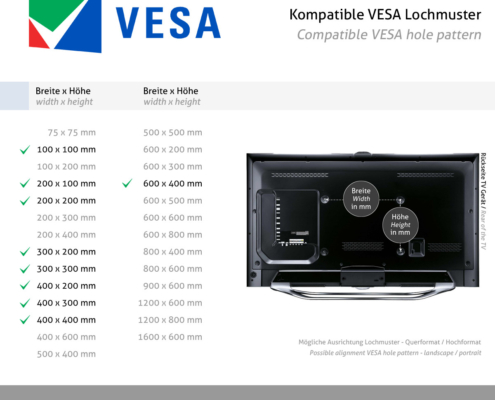 MonLines mySwing MSM05 elektrische TV Wandhalterung 50-70 Zoll, schwarz, VESA