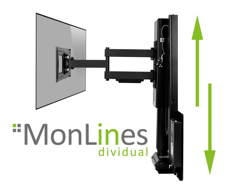 Mytvlift Monlines Schwenkbare Tv Wandhalterung Elektrisch