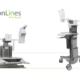 MonLines Sonderanfertigungen Desinfektionshalter, Druckerablage und Norm Schiene für Visitenwagen Ergotron CareFit Pro