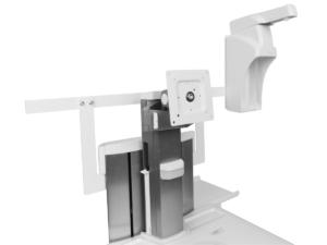 MonLines Druckerablage, Norm Schiene und Desinfektionsspenderhalter für Visitenwagen