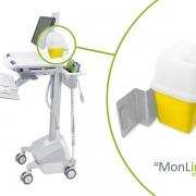 MonLines Spritzenbehälter für Ergotron StyleView Visitenwagen