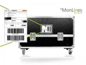 MonLines Transportcase mit Fenster für Versand Dokumente