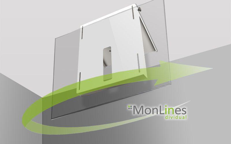 MonLines TV Deckenhalterung drehbar 360°