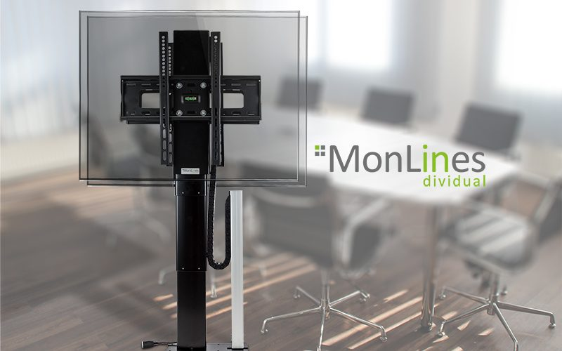 MonLines TV Lift dual Monitorhalterung 2 Monitore