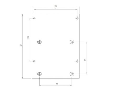MonLines V008 VESA Adapter für Samsung S24F356F Technische Zeichnung