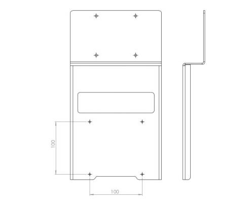 MonLines V014 VESA Adapter für Samsung U28E590D Technische Zeichnung