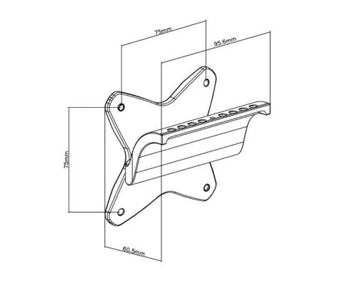 MonLines V019 VESA Adapter für Apple iMac Technische Zeichnung