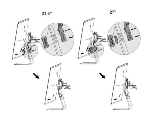 MonLines V020 VESA Adapter für Apple iMac mit Standfuß Technische Zeichnung