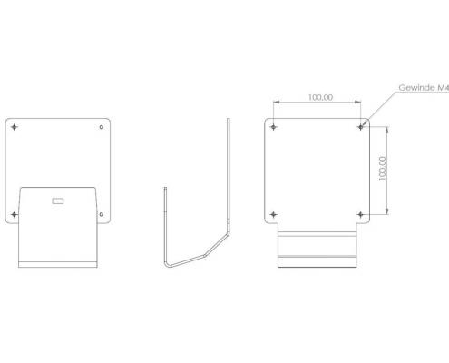 MonLines V055 VESA Adapter für Samsung T240 / T260 Technische Zeichnung
