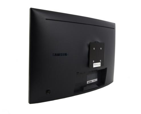 MonLines V066 VESA Adapter für Samsung LC27HG70 Anwendungsbeispiel Seitenansicht