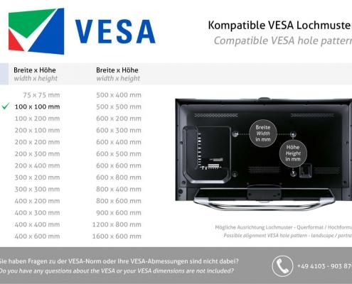 MonLines V066 VESA Adapter für Samsung LC27HG70 VESA Standard