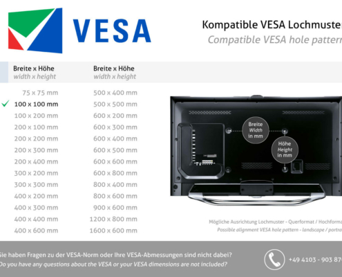 MonLines V069 VESA Standard 100x100 für Samsung S32R754