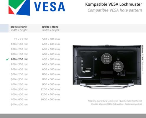 MonLines V071 VESA Adapter für Samsung Frame 32 Zoll VESA Norm