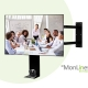 MonLines Videokonferenz Monitorhalterung für Sony mit Cam Ablage