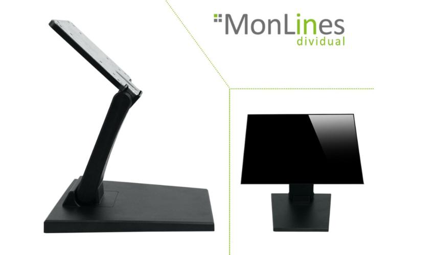 MonLines MTS700B Monitorständer für Touchscreens